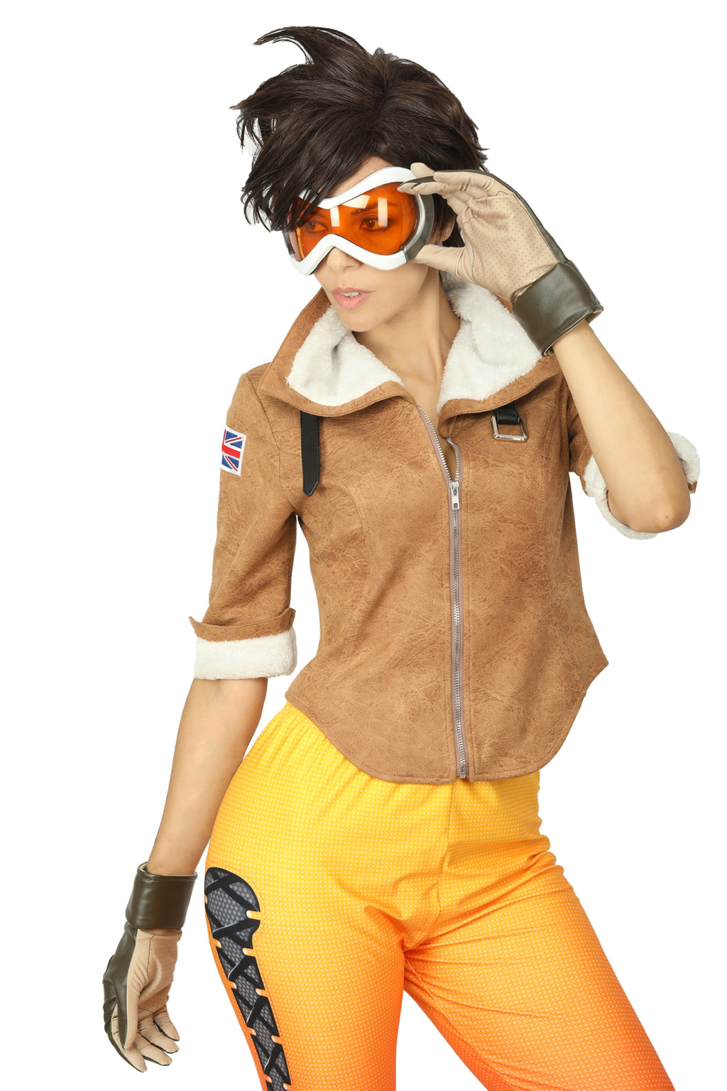 Women's Overwatch Tracer Lena Oxton Cosplay Halloween Game Costume Jacket