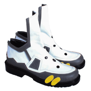 Overwatch Tracer Cosplay Boots Anime Game Cosplay Halloween Shoes White Ankle-high Footwear for Women/Girls