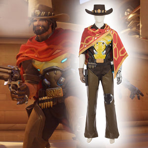 Overwatch Game MCCREE Cosplay Full Costume