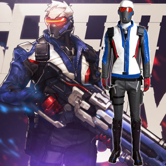 Overwatch Game SOLDIER 76 Cosplay Costume