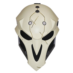 Overwatch Reaper Cosplay Mask, 1:1 Replica Props Halloween Game Anime Face Cover Deluxe Costume Accessories