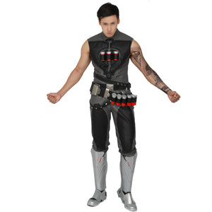 Overwatch Reaper Pants Gabriel Reyes Cosplay Halloween Game Anime Trousers for Adult Men