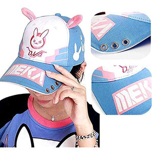 Overwatch D.Va Baseball Hat Embroidery Cap Cosplay Accessory Game Hero Anime Hat for Women Men Teenagers