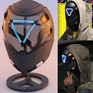 Overwatch Ana Amari Shrike Mask Helmet Cosplay LED Light-up 1:1 Props Costume Accessory