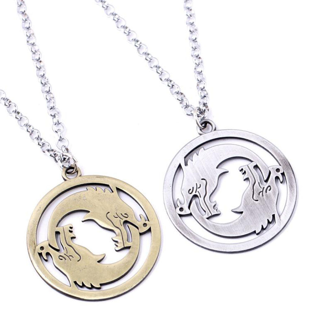 Overwatch Necklace Gaming Movie Comics Cosplay Accessory Silver Bronze Set 2PCS Stainless Steel Pendant Jewelry