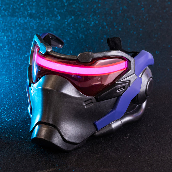 OW Soldier 76 Weapon Mask Cosplay Jack Morrison LED Light Helmet Game Anime Costume Accessory Prop