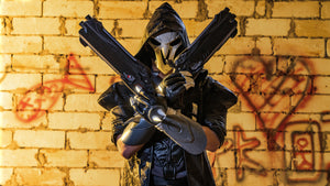 Overwatch Reaper Gloves Cosplay Costume Accessories Gabriel Reyes Game Anime Armor Props Black