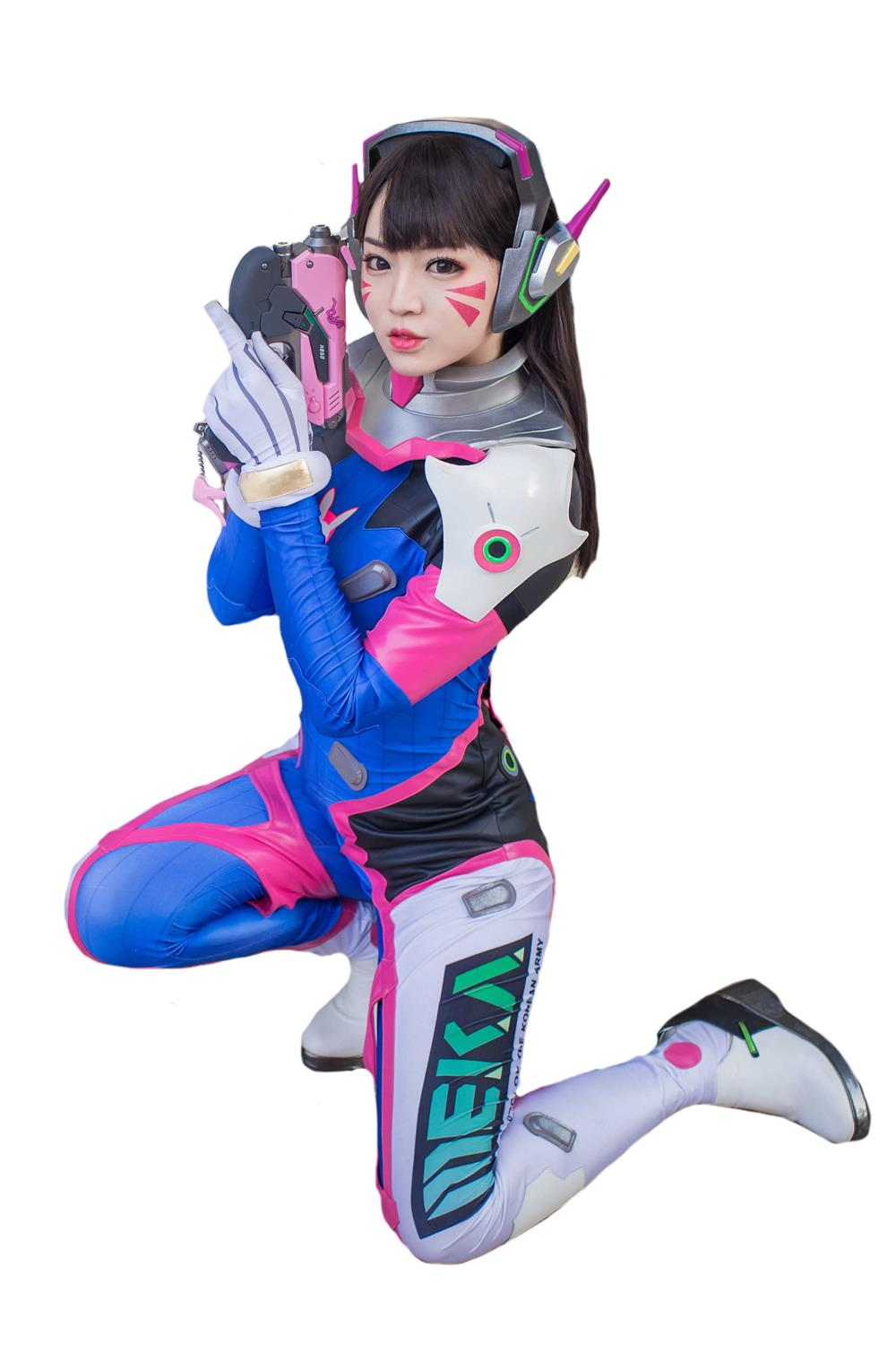 Overwatch D.VA Cosplay Costume Hana Song Bodysuit Women Cosplay Jumpsuit Full Set Costume