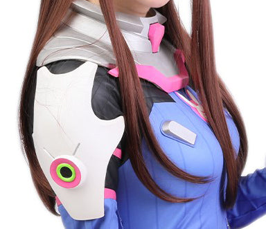 Overwatch D.Va Shoulder Pad & Neck Armor Game Anime Cosplay Costume Accessories Silver