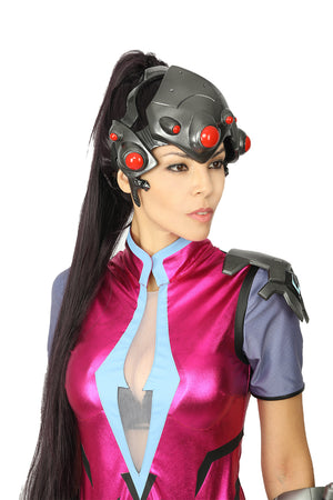 Overwatch Widowmaker Cosplay Mask Amelie Lacroix 1:1 Props Game Anime Weapon Collectible Costume Accessory Black