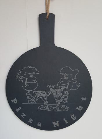 Personalised Slate Pizza Plate