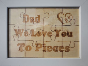Puzzle Messages in a Frame.