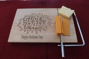 Personalised Cheese Board With Metal Cutter