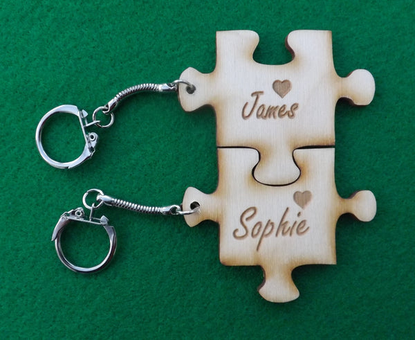 Puzzle Piece Keyring Sets