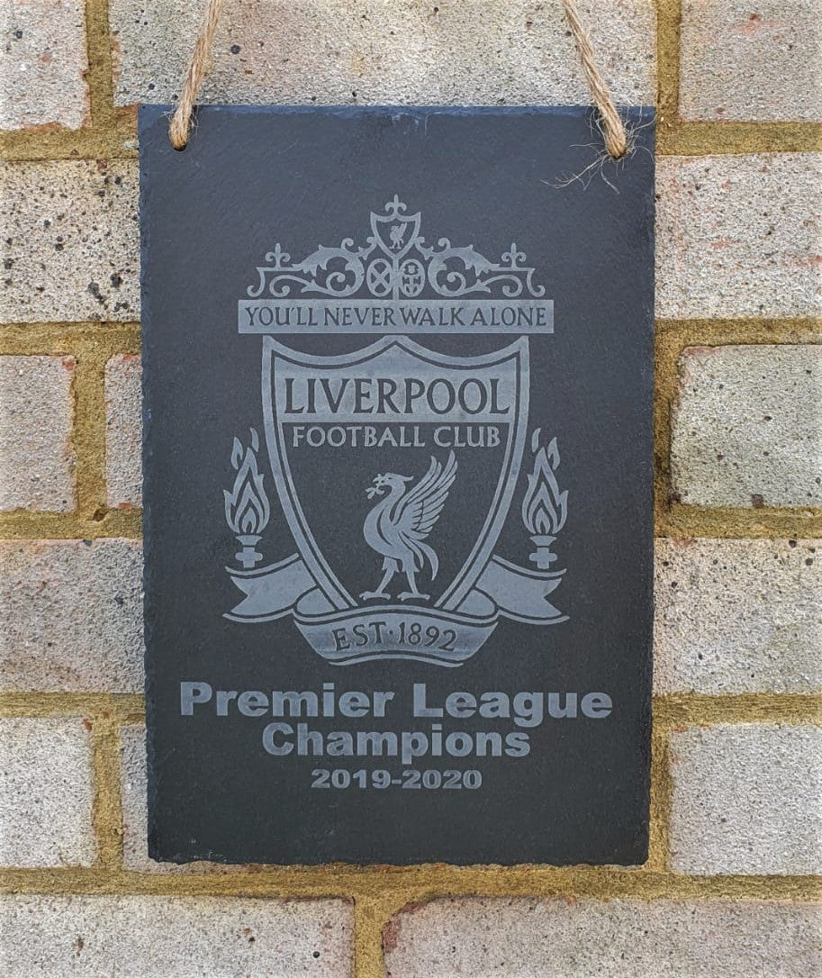 Liverpool Premiership Champions 2019-2020 Commemorative Slate Plaque