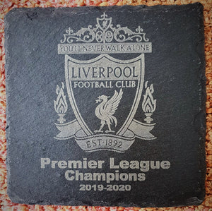 Liverpool Premiership Champions 2019-2020 Commemorative Coasters