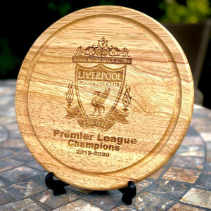 Liverpool Premiership Champions 2019-2020 Wooden Board