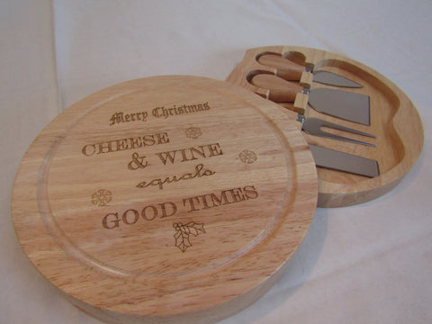 Christmas Cheese Boards with Integrated Tools