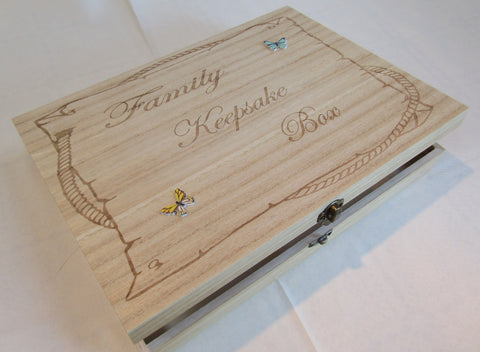 Family Keepsake boxes.