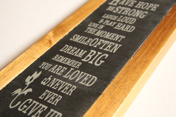 Slate and Bamboo Message Boards
