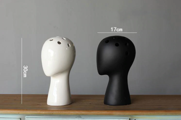 Head Shaped Ceramic Flower Vase