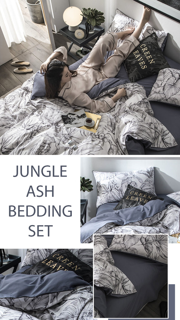 Jungle Ash Bedding Set King Size - fourlinedesign