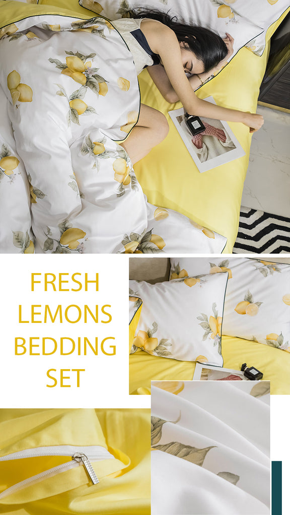 Fresh Lemons Bedding Set - fourlinedesign