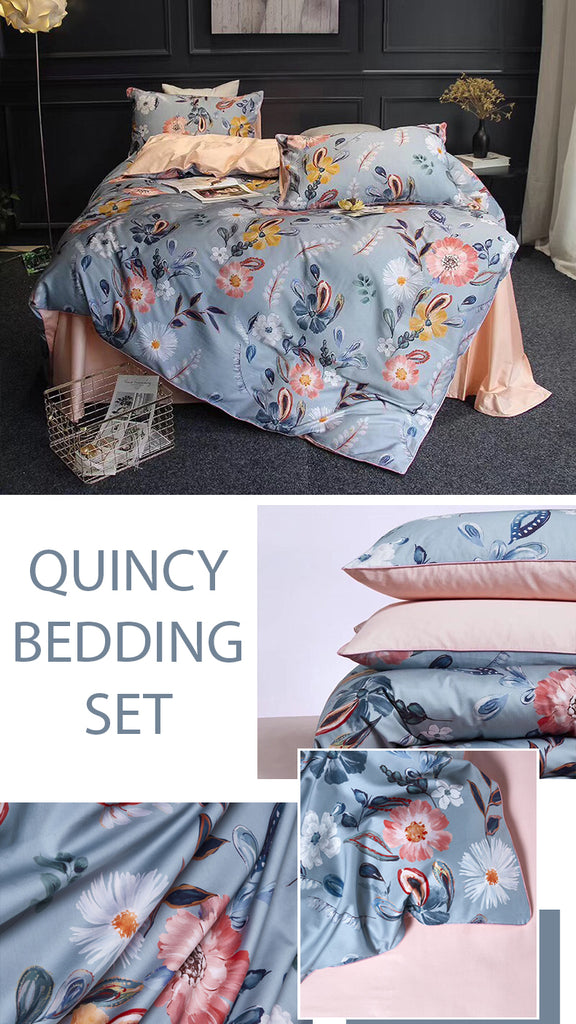 Quincy Satin Bedding Set - fourlinedesign