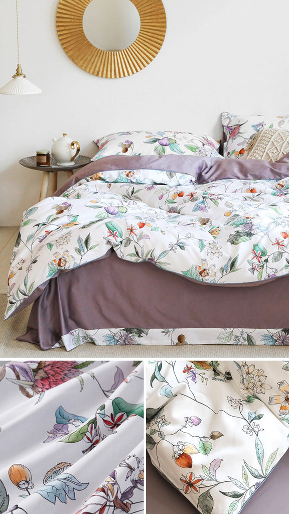 Bella Bedding Set Queen Size - fourlinedesign