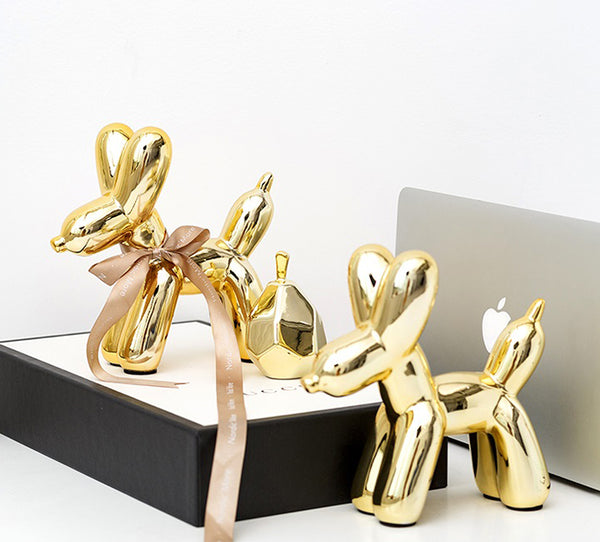 Golden Balloon Dogs Home Accents - fourlinedesign