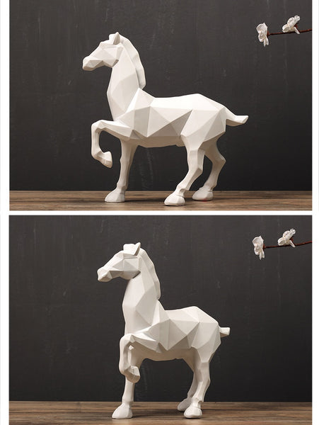 Geometric Horse Ornaments - fourline design