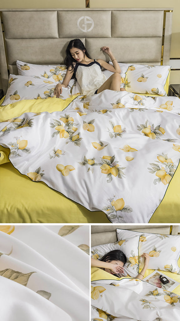 Fresh Lemons Bedding Set - fourline design