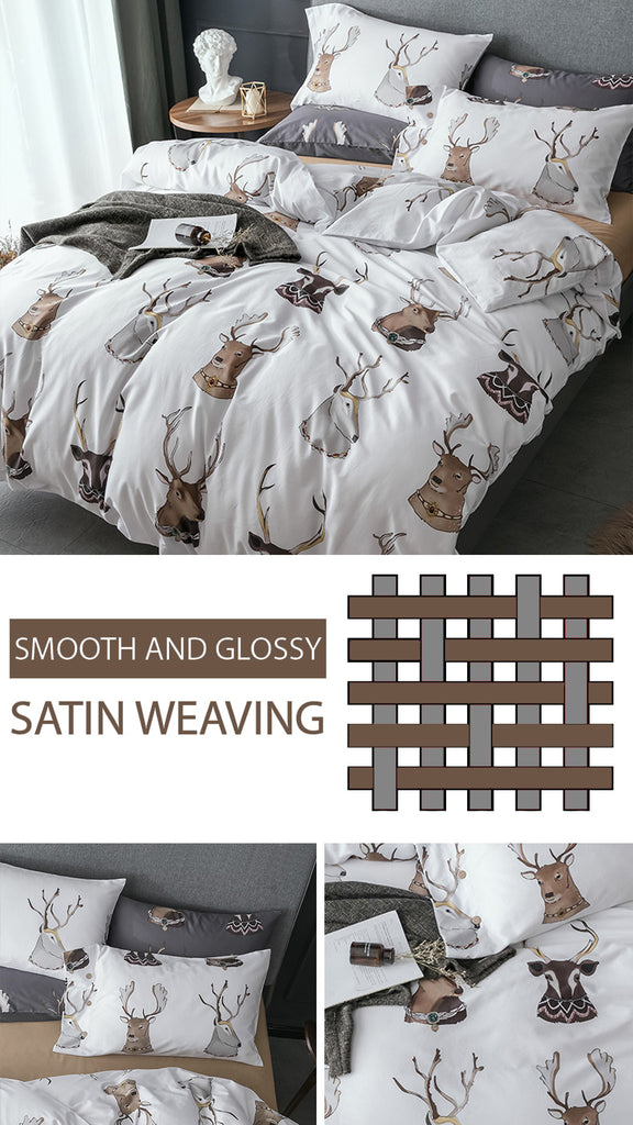 Noble Deers Bedding Set King Size - fourline design
