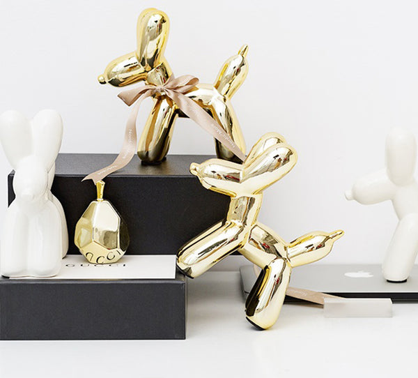 Golden Balloon Dogs Home Accents - Fourline Design