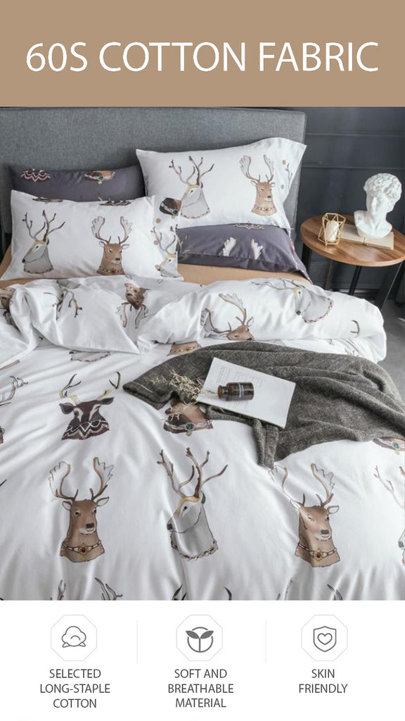 Noble Deers Bedding Set Queen Size - fourline design