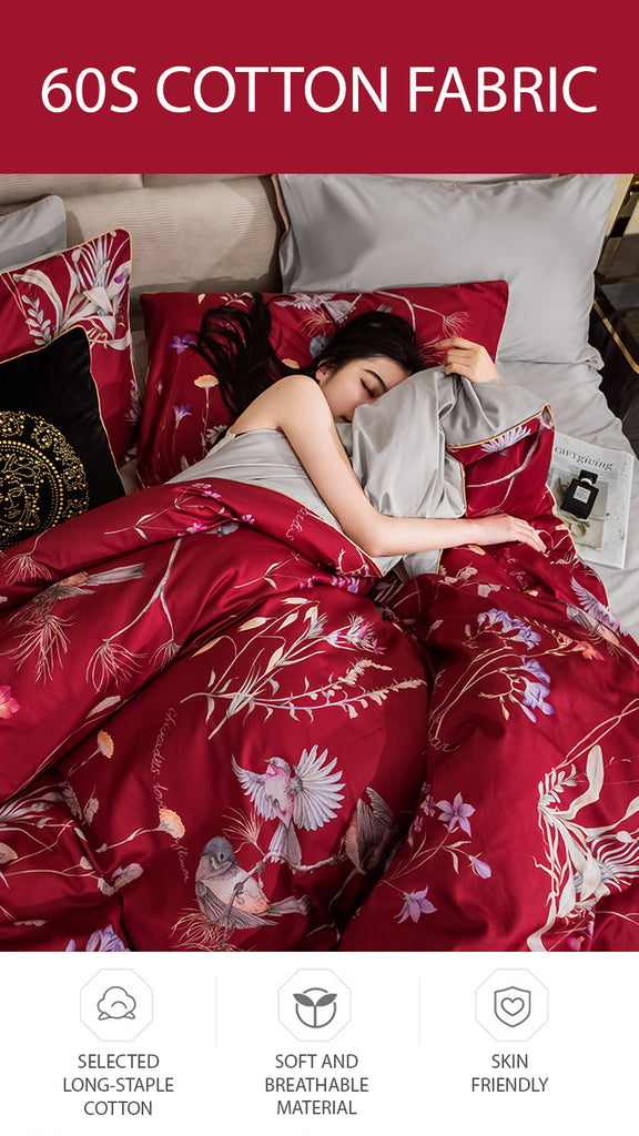 Red Makeup Bedding Set - fourline design
