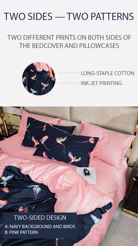 Graceful Birds Bedding Set Queen Size - fourline design
