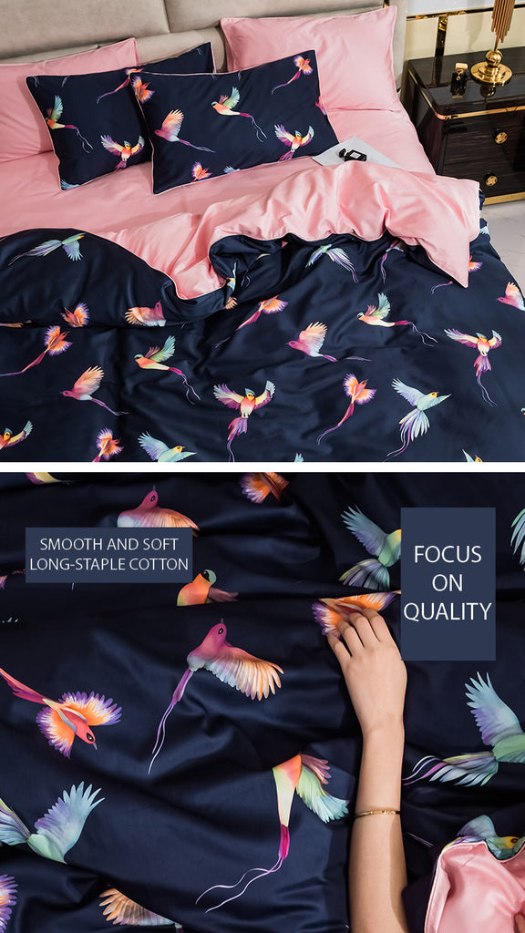 Graceful Birds Bedding Set King Size - fourline design