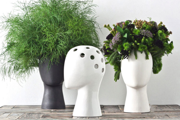 Head Shaped Flower Vase | Home Accessories - Fourline Design
