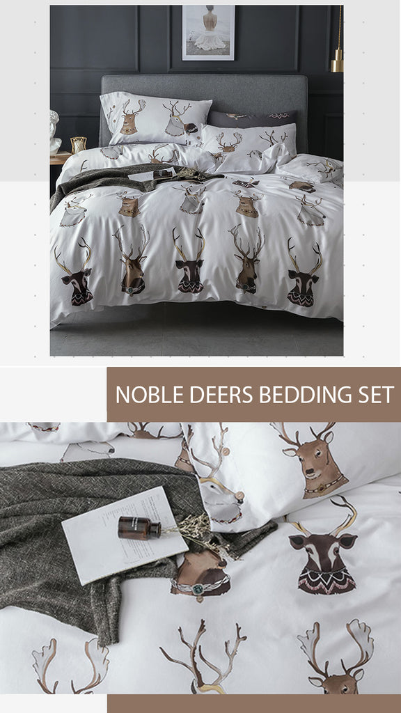 Noble Deers Bedding Set King Size - fourlinedesign