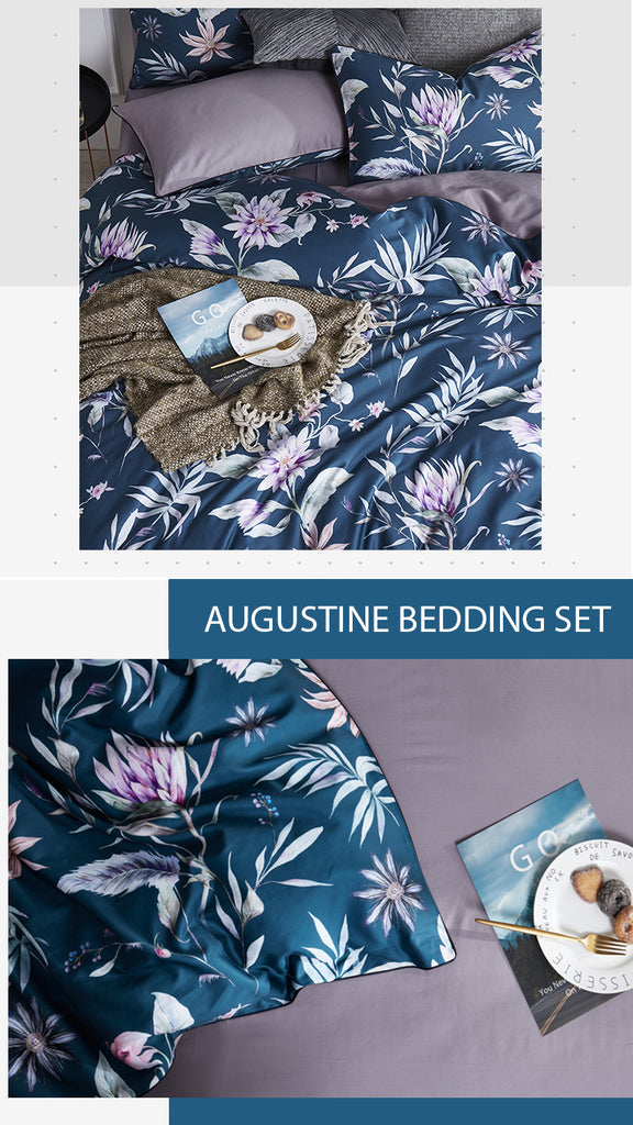 Augustine Satin Bedding Set - fourline design