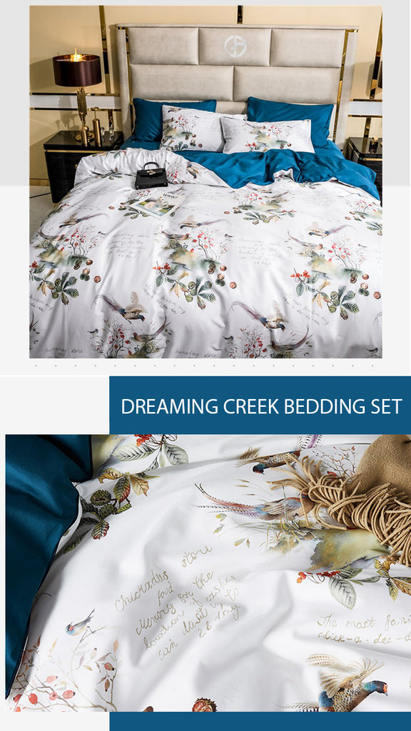 Dreaming Creek Cotton Bedding Set - fourlinedesign