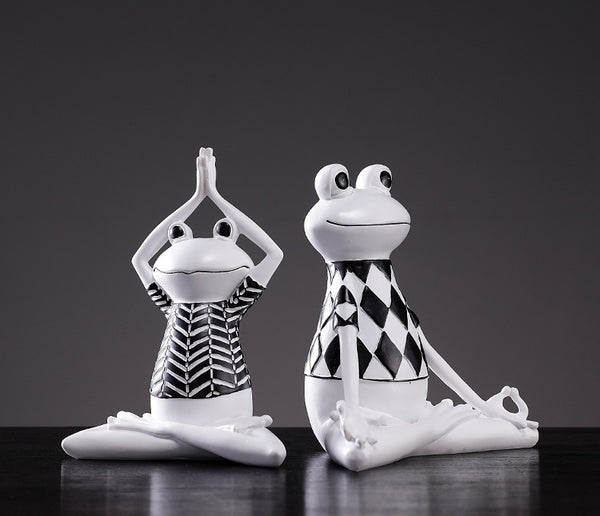 Yoga Frogs Home Decor - fourlinedesign