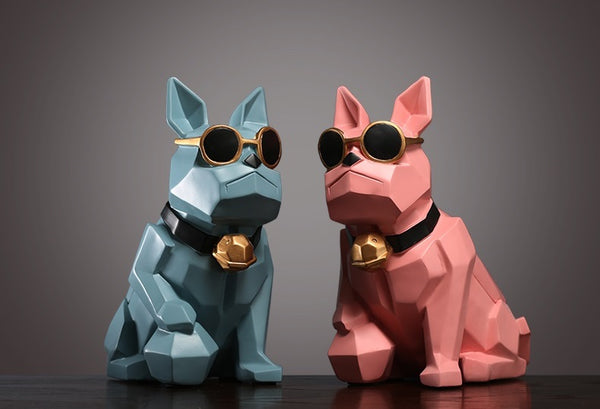 Geometric Bulldogs Ornaments - fourline design