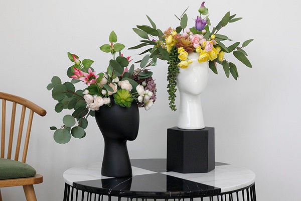 Head Shaped Flower Vase - fourlinedesign