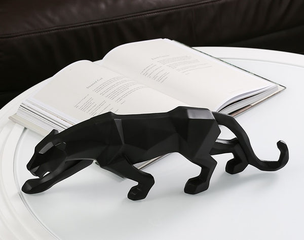 Geometric Panther Figurines - fourlinedesign