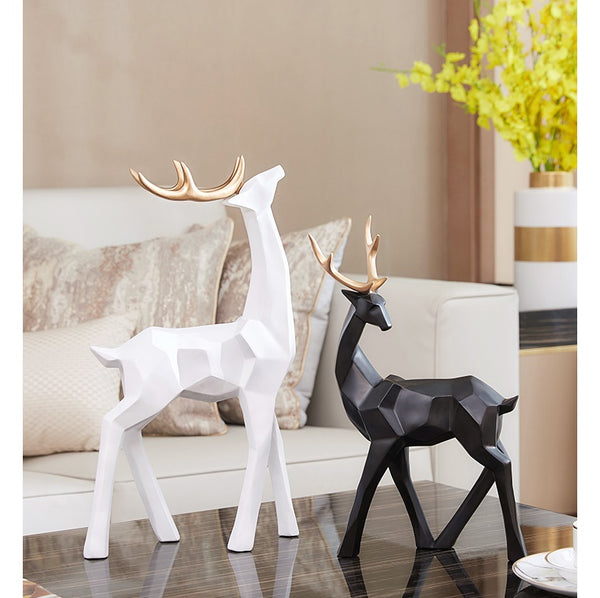 Golden Antlers Deer Home Accents - fourlinedesign