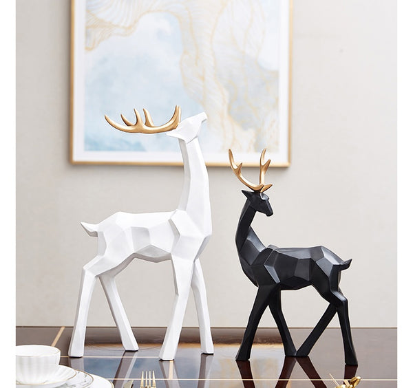 Golden Antlers Deer Centerpieces - fourline design