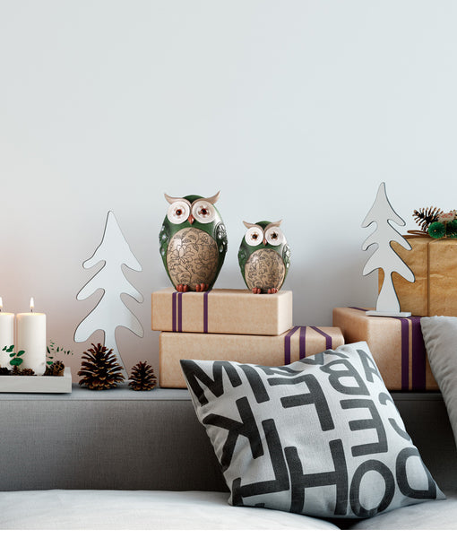 Decorative Owls Ornaments - fourlinedesign