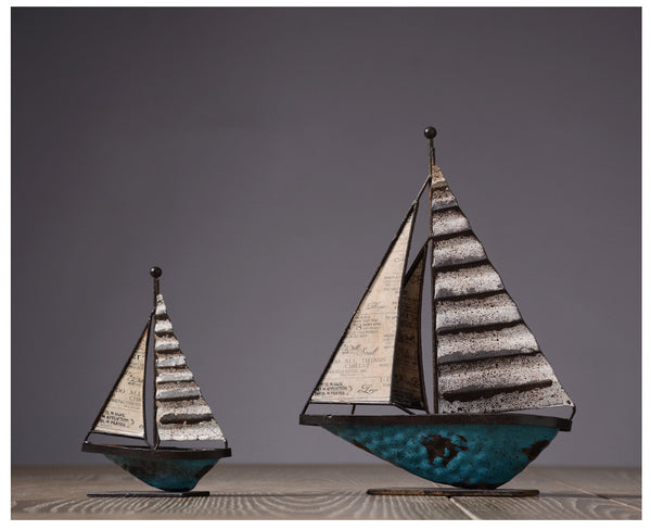 Metal Sailing Ships Centerpieces - fourlinedesign